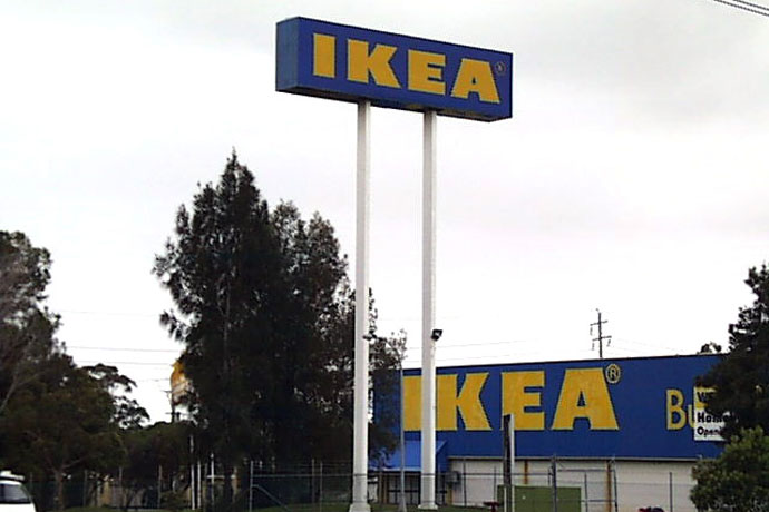 IKEA pylon light box signage